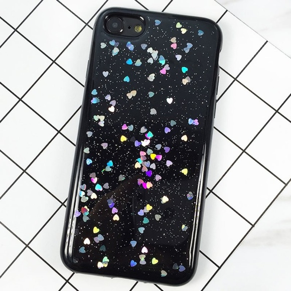 Accessories - NEW iPhone 6/6S/7/8 Black Floating Hearts Case